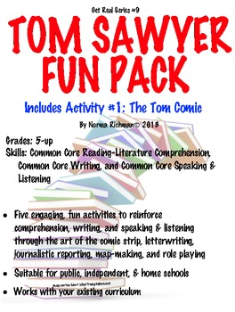 TOM SAWYER FUN PACK LESSON PLAN W/5 ENGAGING COMMON CORE LITERATURE ACTIVITIES