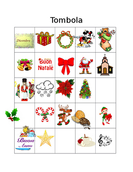 TOMBOLA - IL NATALE - CHRISTMAS BINGO - ITALIAN