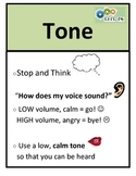 Social Skill Steps Poster - TONE OF VOICE  - ESTEAM curriculum 2014 - R. Kendall