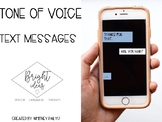 TONE OF VOICE: TEXT MESSAGES