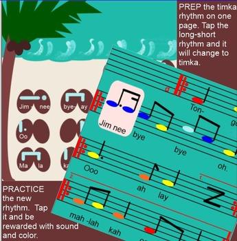 TONGO ~ Polynesian Folk Song~ Timka~ Low so~ Pentatonic~SMARTboard