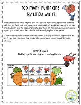 Too many pumpkins book online