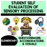 25 questions for kids to self evaluate SENSORY processing needs&accommodations