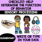 INFORMAL TOOL: 31 questions to HELP determine if SENSORY is function of behavior