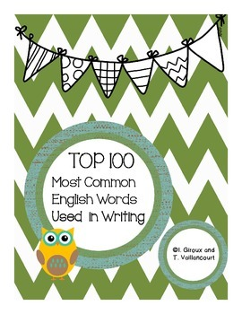 TOP 100 Most Common Words in English