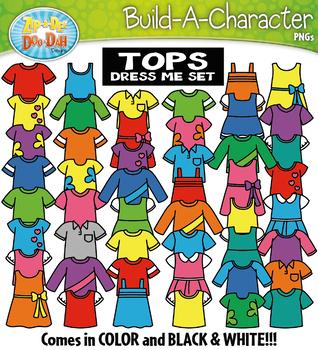 SHIRTS / TOPS Build A Kid Character Clipart {Zip-A-Dee-Doo-Dah Designs}