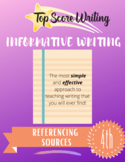 TOP SCORE WRITING 4th Grade Lesson 31 - Referencing Your S