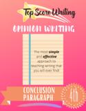 "TOP SCORE WRITING 4th Grade Lesson 66 - Conclusion (""C"") Paragraph (Opinion)"