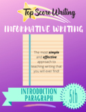 """TOP SCORE WRITING 5th Grade Lesson 27 - Introduction (""""I"""")"""