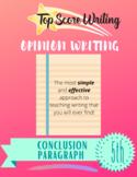 "TOP SCORE WRITING 5th Grade Lesson 66 - Conclusion (""C"") Paragraph (Opinion)"