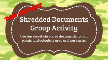 TOP SECRET Shredded Documents Graphing Group Activity (Boot Camp)
