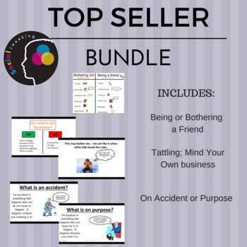 TOP SELLERS BUNDLE! Tattling; Being/Bothering a Friend; On Accident/Purpose