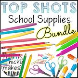 School Supplies Clips - TOP SHOTS - Complete Set