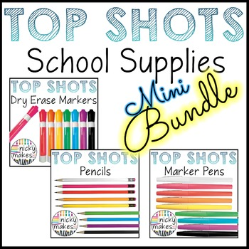 School Supplies Clips - TOP SHOTS - Bundle
