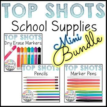 School Supplies Clips - TOP SHOTS - Bundle