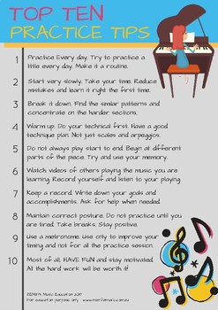 TOP TEN - MUSIC PRACTICE TIPS