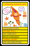 TOP TRUMPS STYLE REWARD CARD FOR GOOD LISTENING