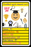 TOP TRUMPS STYLE REWARD CARD FOR GOOD WORK