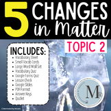 CHANGES in MATTER Topic 2 5th Grade Study Set Pearson Elevate Science