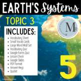 TOPIC 3 STUDY SET EARTH'S SYSTEMS Pearson Elevate Science