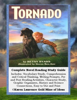 TORNADO by Betsy Byars - Complete Reading ELA Study Guide
