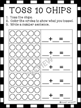TOSS THE CHIPS Math Book K 1 2 Addition Number Composition