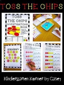 TOSS THE CHIPS Math Facts Book K 1 2 Addition Number Composition NO PREP!