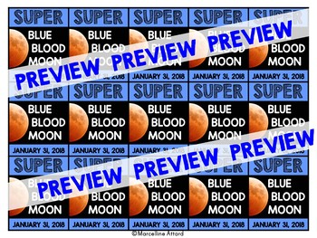 TOTAL LUNAR ECLIPSE 2018 ACTIVITIES (SUPER BLUE BLOOD MOON BRAG TAGS)