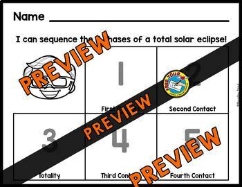 SOLAR ECLIPSE 2017 ACTIVITIES ⚫TOTAL SOLAR ECLIPSE SEQUENCING PRINTABLES