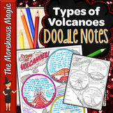 Types of Volcanoes Doodle Notes | Science Doodle Notes