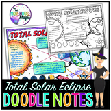 Total Solar Eclipse Doodle Notes | Science Doodle Notes