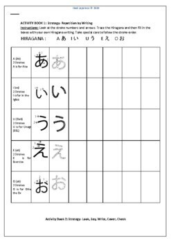 TOTALLY HIRAGANA JAPANESE A-O WORKBOOK AND ASSESSMENT TASKS