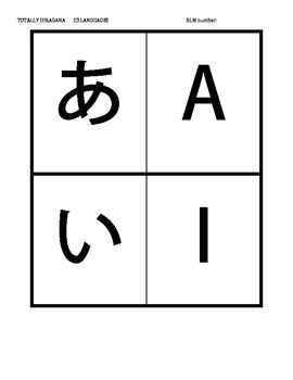 photograph about Hiragana Flash Cards Printable named Eastern AIUEO KA KI KU KE KO Printable Hiragana Flashcards