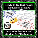 TOTD / Exit Passes for Lesson Closure & Formative Assessment