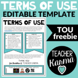 TOU - Editable Terms of Use Template FREE
