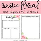 TOU Templates: Rustic Floral