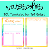 TOU Templates: Watercolor