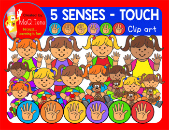TOUCH - FIVE SENSES CLIPARTS