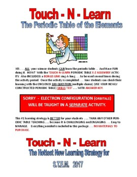 PERIODIC TABLE 42-PAGES  5-DAY LAB and  100-QUESTION TEST