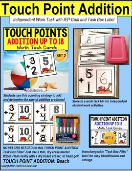 "TOUCH POINT Addition To 18 TASK CARDS BEACH BALL Theme ""TASK BOX FILLER"""