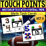 "TOUCH POINT Task Cards Football Addition To 18  ""Task Box Filler"" for Special Ed"