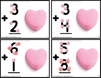 "TOUCH POINT Addition To 18 TASK CARDS Valentine's Day Theme ""Task Box Filler"""