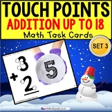 TOUCH POINT Addition TASK CARDS WINTER Theme