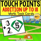 """TOUCH POINT Football Addition Sums To 18 TASK CARDS """"Task Box Filler"""" for Autism"""