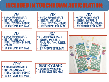 TOUCHDOWN ARTICULATION & LANGUAGE BUNDLE (SPEECH & LANGUAGE THERAPY)