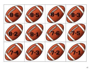 TOUCHDOWN! Football Math Facts