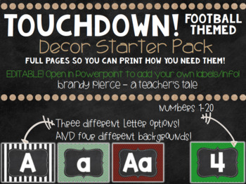 TOUCHDOWN! Football Themed Decor - GROWING bundle!