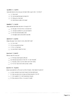 TOUCHING SPIRIT BEAR CH. 11-15 30 QUESTION QUIZ - KEY INCLUDED
