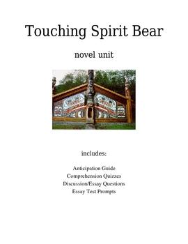 TOUCHING SPIRIT BEAR Novel Unit