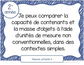 Buts d'apprentissage 2e année (Ontario) - Learning Goals in French